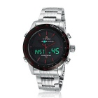 NAVIFORCE NF9024 Men's Analog + Digital Sports Watch - Black + Silver
