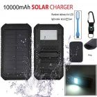 Buy Solar Power Bank LED Indicator + Flashlight Lighting Compass Light Bag