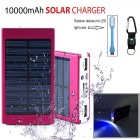 "SUNGZU ""10000mAh"" Dual USB Solar Power Battery Bank - Red"