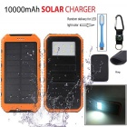 "SUNGZU ""10000mAh Dual USB Solar Power Bank ж / Compass - Оранжевый"