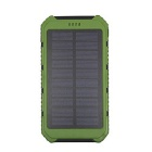 "SUNGZU ""10000mAh Dual USB Solar Power Bank w/ Compass - Green"
