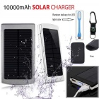 "SUNGZU ""10000mAh"" Dual USB Solar Power Bank + Compass - Silver"