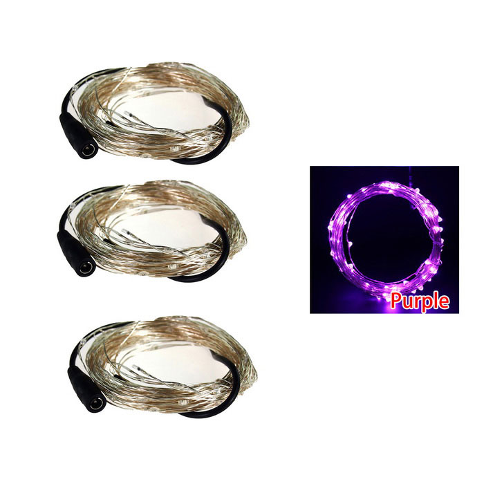 WLXY 5m 3W 50-LED Декоративные лампы Strings Purple Light (3PCS / DC12V)