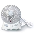 QooK FN001W Aromatherapy Charging Light 2- Mode Silent Fan - White