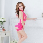 FanYang 7434 Woman's Fashionable Sexy Lingerie Suit - Dark Pink