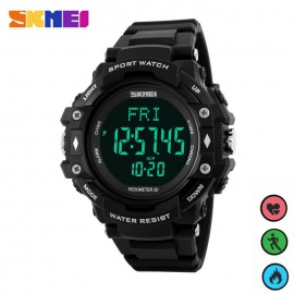 SKMEI 1180 Multifunction PU Band Digital Sports Watch - Blue