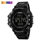 SKMEI 1180 Multifunction PU Band Digital Sports Watch - Black
