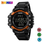 SKMEI 1180 Multifunktions-PU-Band-Digital-Sport-Uhr - Orange