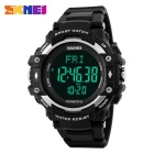 SKMEI 1180 Multifunction PU Band Digital Sports Watch - Silver