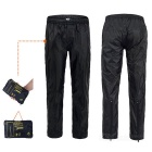 NatureHike Outdoor Waterproof Breathable Rainproof Pants - Black (M)