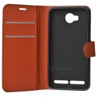 Lichee Pattern Protective Case for HUAWEI Y3 II / Y311 - Brown