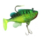 Soft Lifelike Fish Style Fishing Lure / Bait - Green + Black