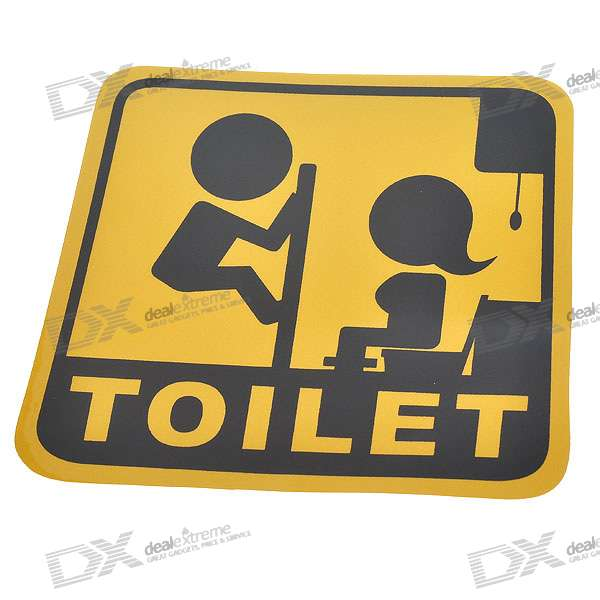 Light Reflective Toilet Stickers (4-Pack)