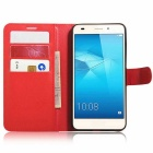 Retro Style Flip-Open PU Case for HUAWEI Honor 5C - Red