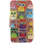 SZKINSTON Cute Owl Pattern PU Case for IPHONE 6/6S - Brown + Red