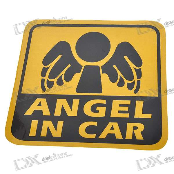 Light Reflective Angel in Car Stickers (4-Pack)