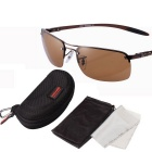 ReeDoon 8045 Carbon Fiber UV400 Polarized Sunglasses - Dark Brown