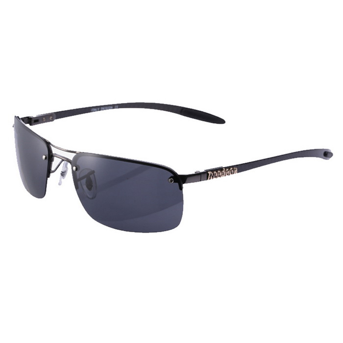 ReeDoon 8045 Carbon Fiber UV400 Polarized Sunglasses - Gun Color +Grey