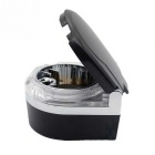ZIQIAO Portable LED Lights Car Ashtray - Black + Silver
