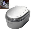 ZIQIAO Portable LED Lights Car Ashtray - Silver + Grey