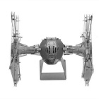 DIY 3D Puzzle Assembled Model Toy Weapon Fighter - Silver