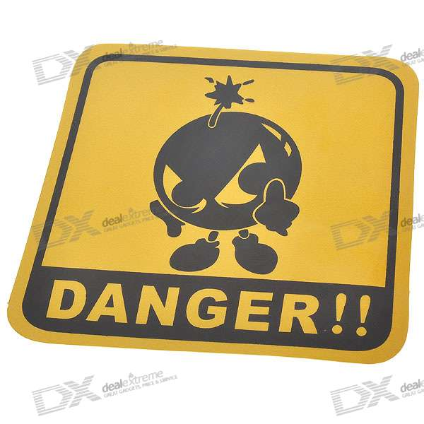 Light Reflective Danger Warning Label Stickers (4-Pack) wrap around sizing label 33x32 250 stickers