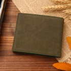 Men's Fashionable PU Wallet Purse - Army Green