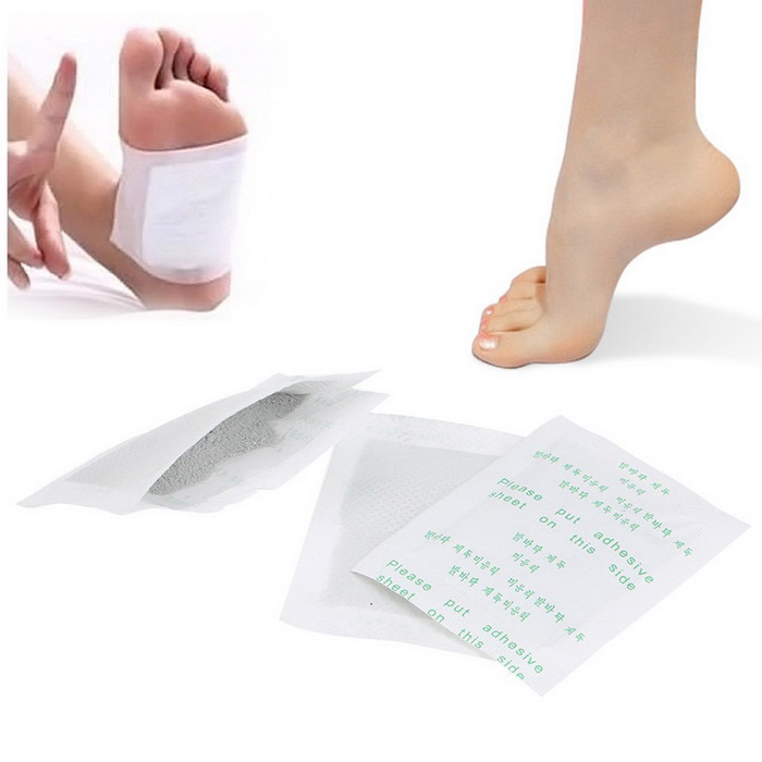 Detox Foot Mats Strips Detoxification Foot Smelly Medical Tool - White