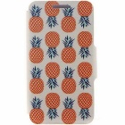 SZKINSTON Pineapple Pattern PU Case for IPOHONE 6/6S - White + Red