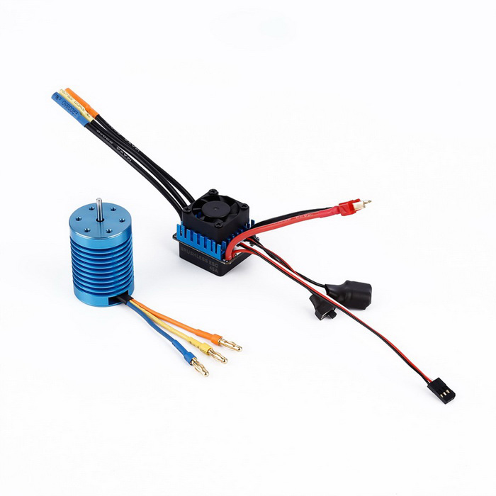 OCDAY 3650 1/10 4370KV Slot sensorless motore brushless - Blu