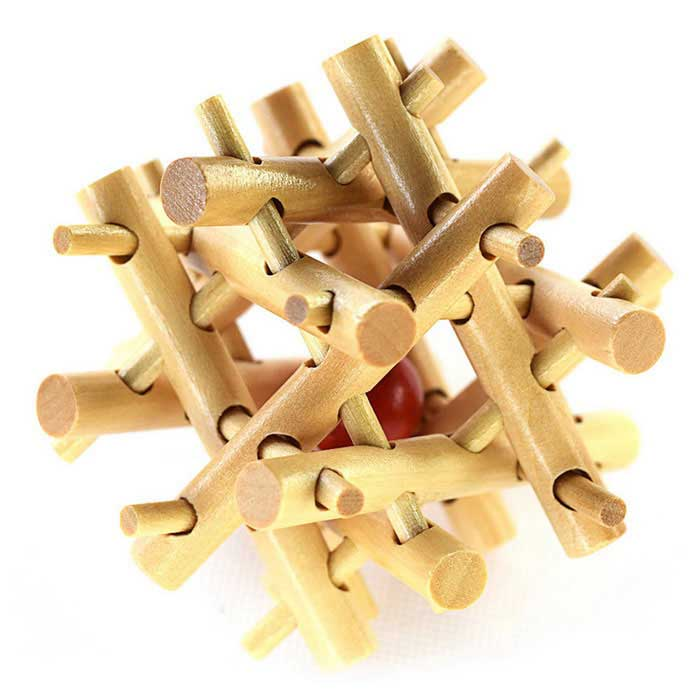 MAIKOU MK532 Fence Shape Puzzle Educational Wooden Interlock Toy