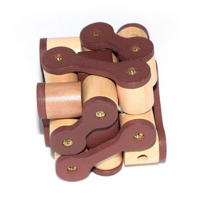 MAIKOU MK517 Untied Chain Shape Wooden 3D Puzzle Toy - Multicolor