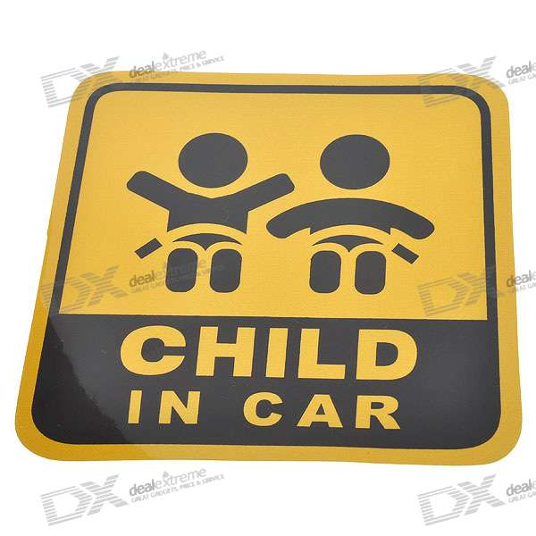 Light Reflective Child in Car Stickers (4-Pack)
