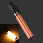 White Light Party Concert Glowing Lighting Stick - Black + Orange