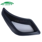 Exterior Car decorativa Fluxo Air Vent Fender Etiqueta 3D - preto (2PCS)