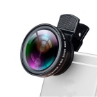 Universal 2 em 1 Clip-On IPHONE Lens Kits 12,5X Macro Lens + 0.45X Wide Angle Lens