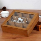 9 Drawers Wooden Jewelry Storage Box - Brown