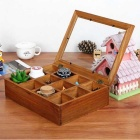 12 Drawers Wooden Jewelry Storage Box - Brown