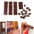 Plastic Viscous Hooks - Coffee (26PCS)