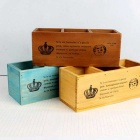 3 Drawers Wooden Jewelry Storage Box - Light Blue