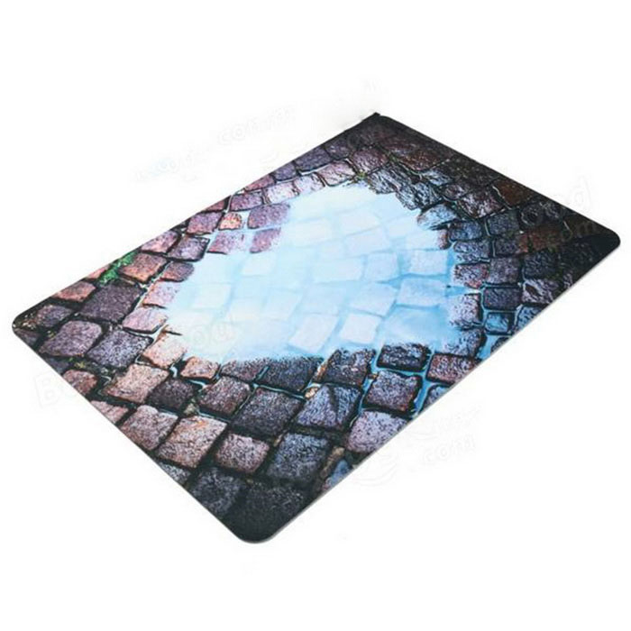 3D Interesting Outdoor / Home Non-slip Door Carpet Floor Mat - Black