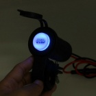 Motorcycle Waterproof 5V / 2.1A USB Phone Charger - Black