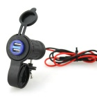Waterproof Motorcycle Cigarette Lighter USB Phone Charger w/ 60m Cable