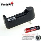 FandyFire US Plugs Charger + 3.7V 800mAh 14500 Rechargeable Battery Set
