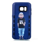 Shockproof TPU Back Case for Samsung Galaxy S7 - Dark Blue