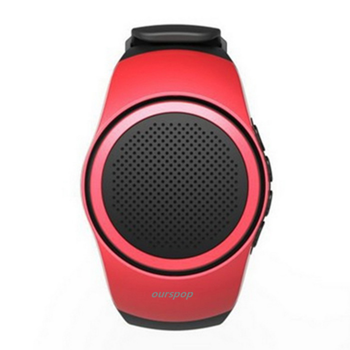 OURSPOP B20 Estilo do relógio BT V2.1 Universal Mini Speaker - Black + Red