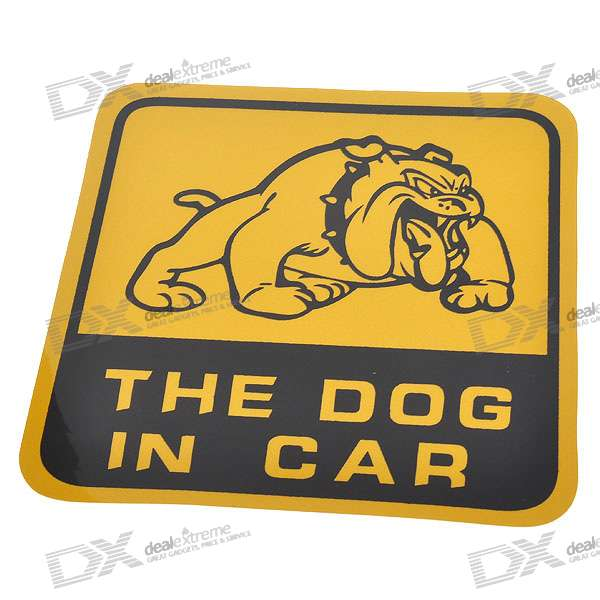 Light Reflective Dog in Car Stickers (4-Pack)