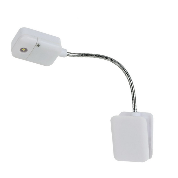 0.25W 70lm 5000K clip-on LED neutre lumière blanche lampe de table de lecture