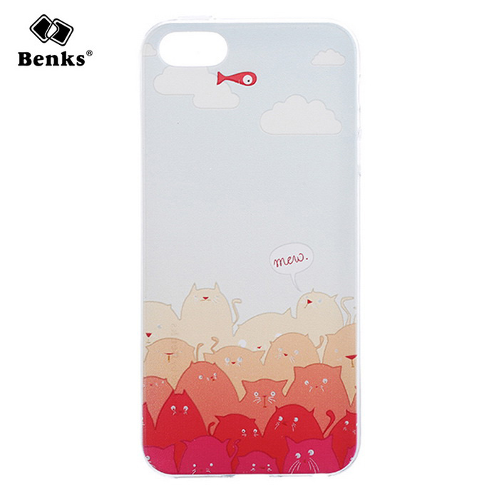 Benks Mololo TPU Protective Back Case for IPHONE SE - White + Red