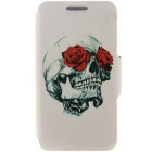 SZKINSTON® Rose & Skull Design PU Leather Case for iPhone 6 / 6S Plus